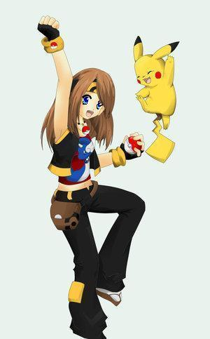 pokemon trainer with Pikachu