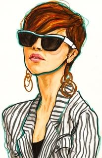 Modern Art kertas dinding with sunglasses titled wayfarers