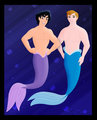 Aladdin and Philip Mermen - leading-men-of-disney photo