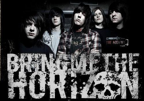 Bring Me The Horizon karatasi la kupamba ukuta possibly with a sign entitled BMTH♥