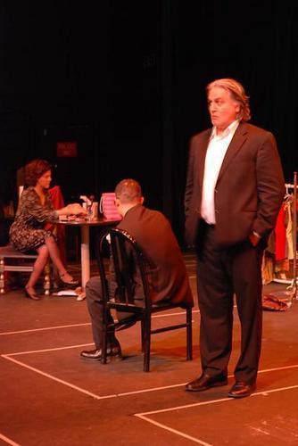 "Chakotay (Robert Beltran) workshopping for a Latin play ""Solitude"""