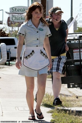Christina on the set of Born To Be A star, sterne