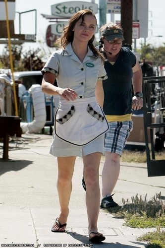 Christina on the set of Born To Be A Star
