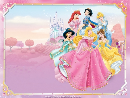 disney princesas wallpaper probably with a sign called disney Princesses
