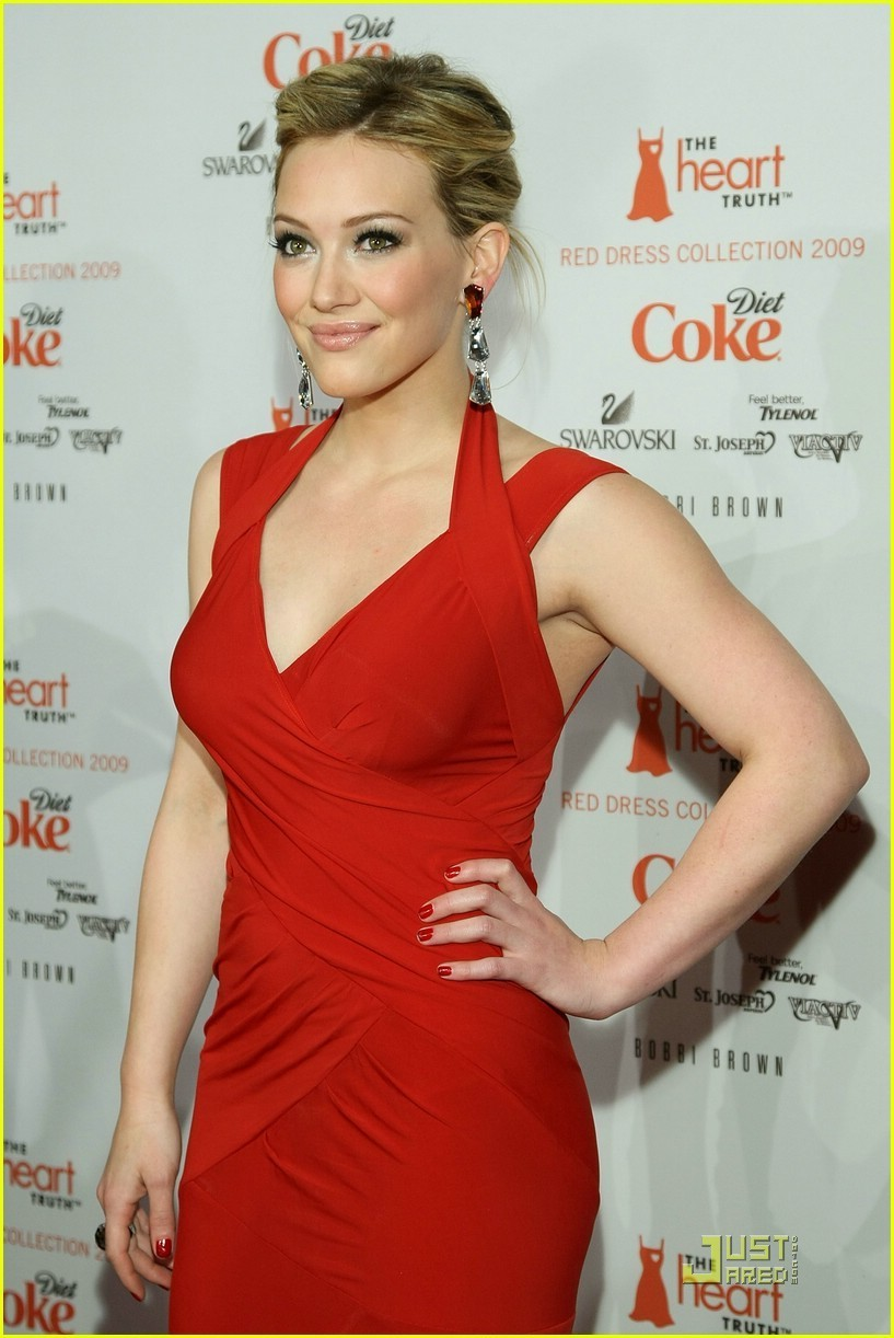 Hilary at the Heart Truth Red Dress collection 2009 ... Hilary Duff Mean