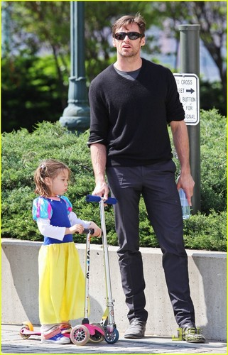 Hugh and daughter Ava
