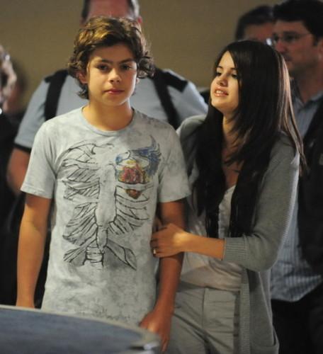 Jake/Selena At LAX Airport