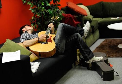 Kris Allen Backstage