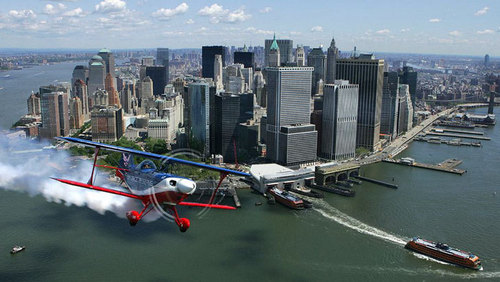 New York wallpaper probably containing a business district and a floatplane called NYC