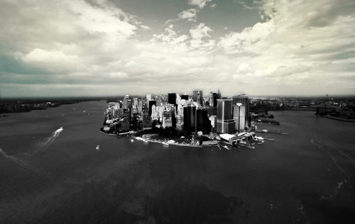 New York wallpaper containing a business district entitled NYC