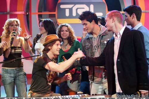 One Tree Hill cast on TRL