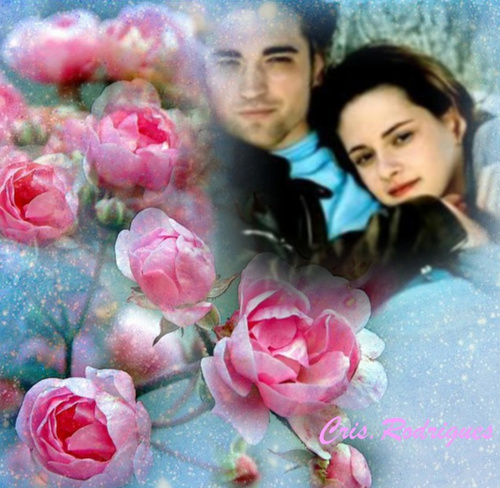 Twilight Obsessors wallpaper containing a bouquet, a rose, and a camellia entitled Rob & Kirsten