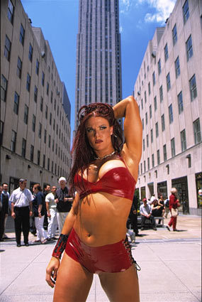 "Amy ""Lita"" Dumas wallpaper probably with a skyscraper, a bikini, and a street entitled Rockerfeller Center - Lita"