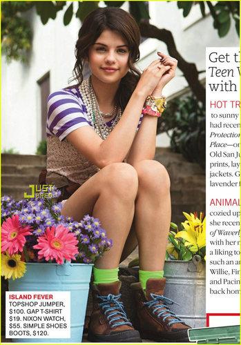 Selena on Teen Vogue