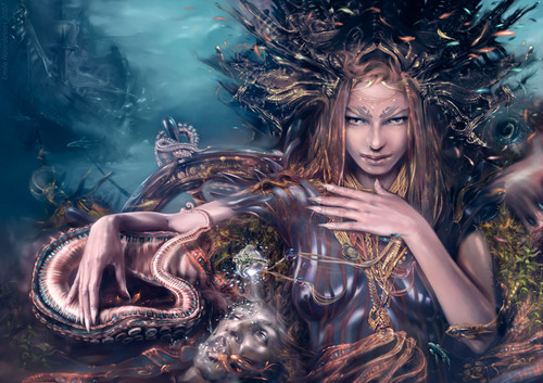 Siren - Emile Noordeloos - fantasy-art Photo
