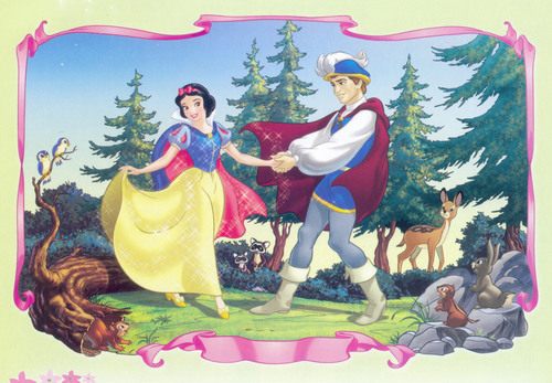 Disney Couples پیپر وال titled Snow White and Prince