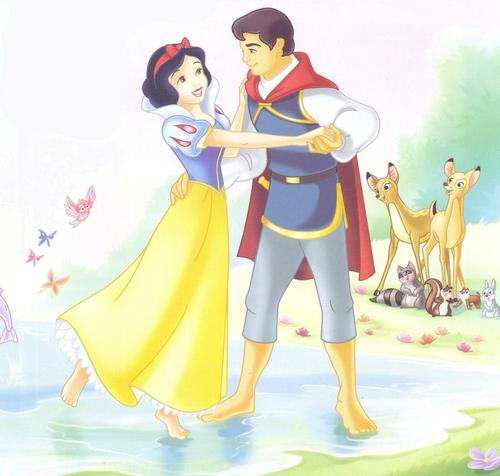 Snow White and Prince - disney-couples Photo