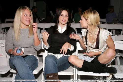 Sophia arbusto, bush at Mercedes-Benz Spring 2005 Fashion Week