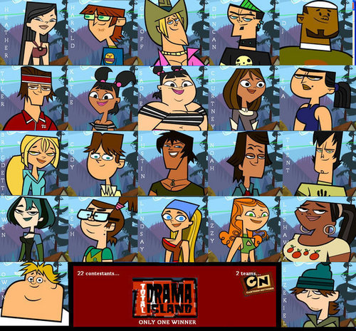 Total Drama Island wallpaper possibly with anime entitled The campers