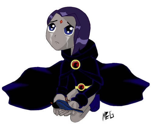 What did I do? - raven Fan Art