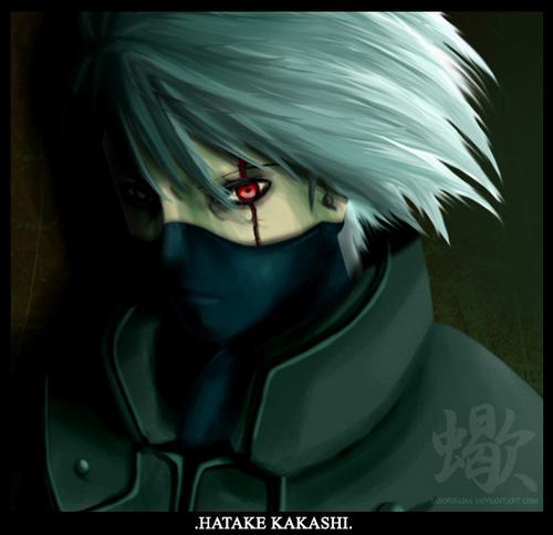 blood eyes kakashi