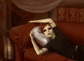 gaara on red couch