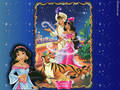 Aladdin and Jasmine - disney-couples wallpaper