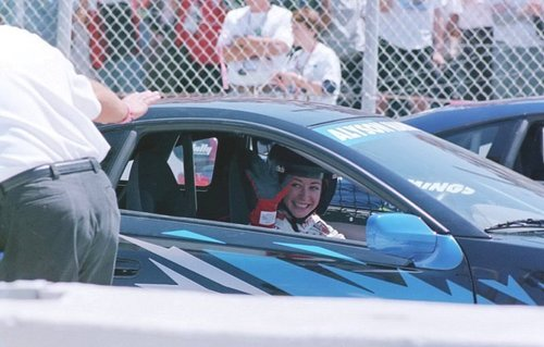 Alyson Hannigan in the Toyota Pro-Celebrity Race