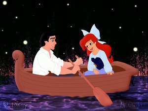 Disney Couples wallpaper called Ariel and Eric