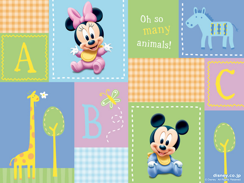 Baby Mickey and Minnie Wallpaper - mickey-and-minnie Wallpaper