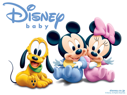 Baby Mickey and Minnie پیپر وال