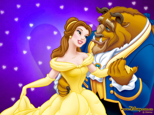 A Bela e a Fera wallpaper possibly containing animê titled Beauty and the Beast wallpaper