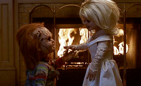 Bride of Chucky wallpaper probably with a bridesmaid called Chucky and Tiffany