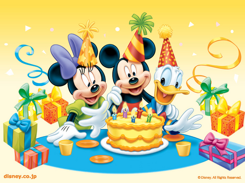 disney fondo de pantalla possibly containing a coffee break called disney Birthday fondo de pantalla