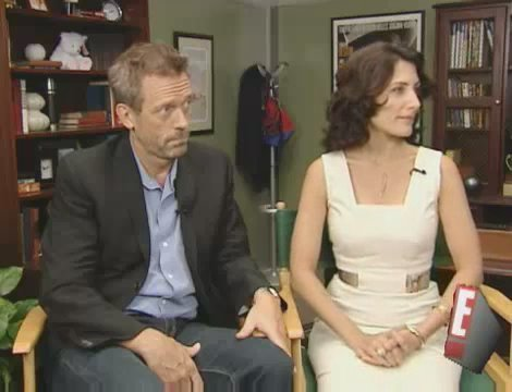 E!Online - Hugh Laurie & Lisa Edelstein Interview - hugh-and-lisa Screencap