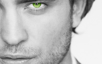 """Robert Pattinson wallpaper possibly containing a business suit titled Green Eyes for """"Tear"""""""