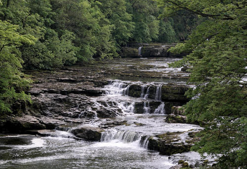 High Force at Aysgarth in Yorkshire, UK. Used for the river staff fight scene