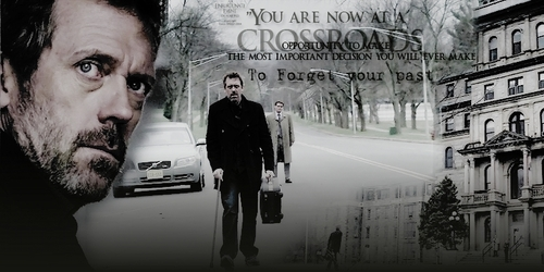 Dr. Gregory House wallpaper with a street and a brownstone called House header