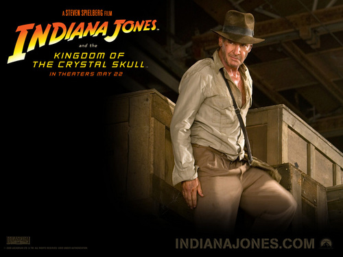 Harrison Ford fond d'écran probably with a fedora and a business suit titled Indiana Jones