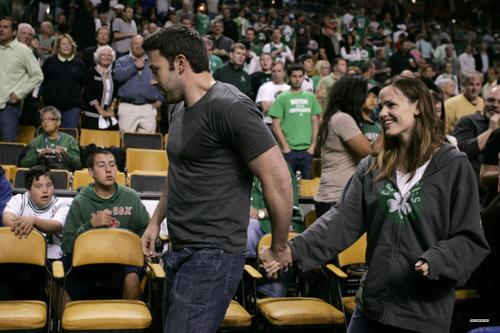 Jen & Ben at a Boston Celtics game