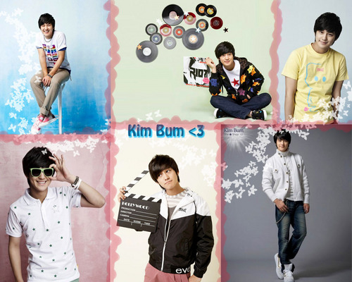 Kim Bum wallpaper possibly containing a sign, long trousers, and a playsuit entitled Kim Bum Collage Wallpaper