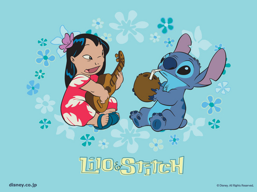 Lilo & Stitch kertas dinding probably with Anime entitled Lilo and Stitch kertas dinding