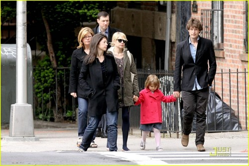 Michelle out and about with her mom Carla, two friends, and Matilda