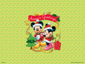 Mickey and Minnie Natale wallpaper