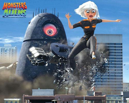 Monsters vs Aliens fondo de pantalla
