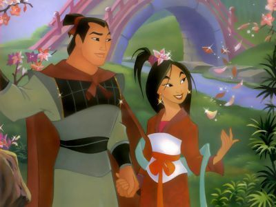 Disney Couples wallpaper entitled Mulan and Shang
