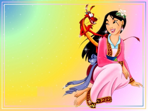 Disney Leading Ladies karatasi la kupamba ukuta with anime called Mulan