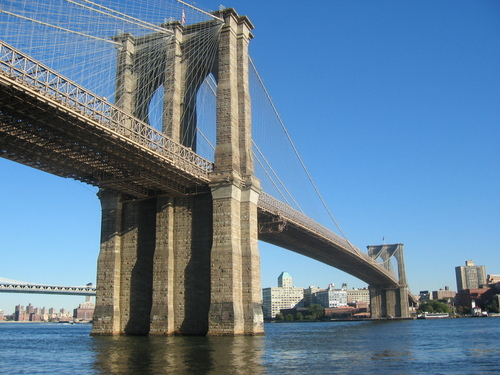 New York Обои probably with a suspension bridge entitled New York