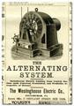 Newspaper Ad for Tesla's Alternating Current