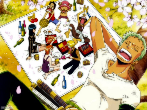 Straw Hats Having a Picnic
